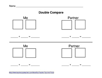Double Compare Game Worksheet