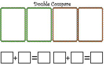 Double Compare Math Station Gameboard