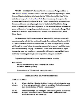 Double-Consciousness Intro Lesson Plan