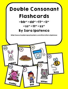 Double Consonant Blends Phonics Flashcards Bundle