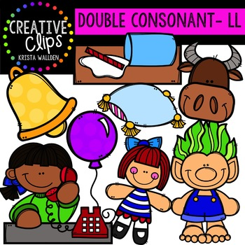 Double Consonant Clipart: LL {Creative Clips Clipart}