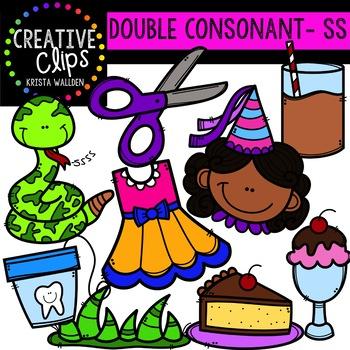 Double Consonant Clipart: SS {Creative Clips Clipart}