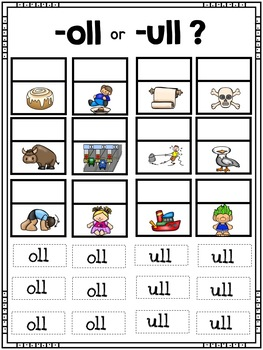 Double Consonant Ending -ll - All About -all, -ell, ill, oll, and ull.