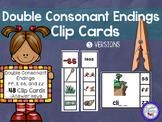 Double Consonant Endings Clip Cards