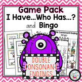 Double Consonant Endings I Have Who Has and Bingo Games