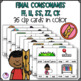 Double Consonant Endings LL,ZZ,FF,SS,CK Clip Cards and Printables