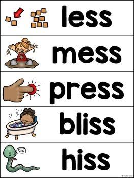 Double Consonant Endings Sorting Activities