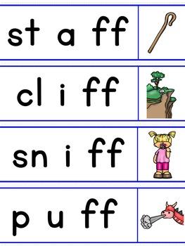 Double Consonant Endings Word Sliders