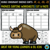 Double Consonant Endings (ll, ff, ss, zz) Sorts   Cut and Paste Worksheets