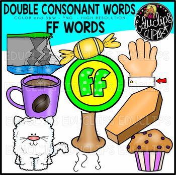 Double Consonant FF Words Clip Art Set {Educlips Clipart}
