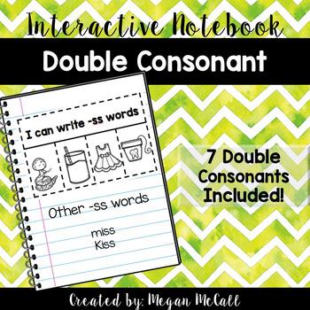 Double Consonant Interactive Notebook