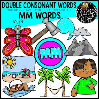 Double Consonant MM Words Clip Art Set {Educlips Clipart}