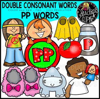 Double Consonant PP Words Clip Art Set {Educlips Clipart}
