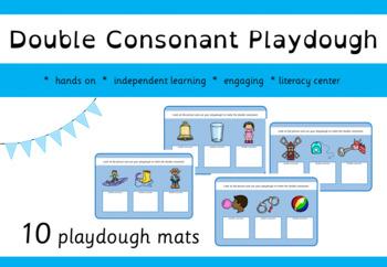 Double Consonant Playdough Mats