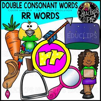 Double Consonant RR Words Clip Art Set {Educlips Clipart}