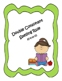 Double Consonant  Spelling Rule Worksheets