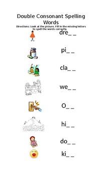 Double Consonant Spelling Words_Fill in Blank Letters