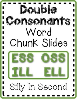 Double Consonant Word Slides Pack