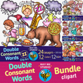 Double Consonant Words (FF, LL, SS, ZZ) Clipart Bundle