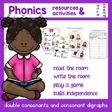 Double Consonant and Digraph Resource and Activities