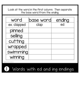 Double Consonants  ed, ing | Journeys Mr. Tanen's Tie Trouble | Suffixes ed, ing