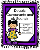 Double Consonants Literacy Center