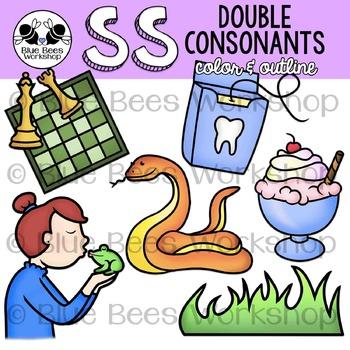 Double Consonants Clip Art - SS
