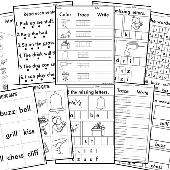 Phonics By Design Double Consonants FF, LL, SS, & ZZ Mini-Unit