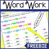 Highlight & Record Phonics Freebie