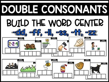 Double Consonants Phonics Center:  Build the Word
