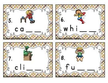 Double Consonants Task Cards