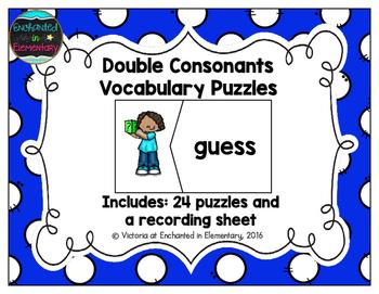 Double Consonants Vocabulary Puzzles
