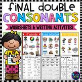 Double Consonants Worksheets   Final Double Consonants Activities
