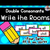 Double Consonants Write the Rooms [ll, ss, ff, zz/tt]