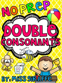 Double Consonants -ll -ss -zz -ff Worksheets & Activities {NO PREP!}