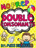 Double Consonants ff ll ss zz Floss Rule Worksheets & Activities {NO PREP!}