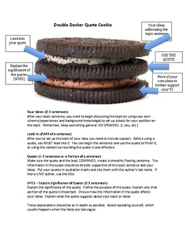 Double Decker Quote Cookie