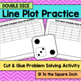 Double Dice Line Plot Practice