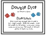 Double Dice Math Center