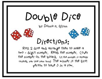 Double Dice Math Center