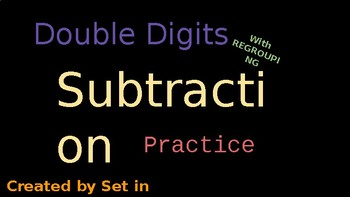 Double Digit Regrouping Subtraction Practice