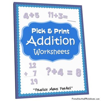 Addition Practice Worksheets with Answer Keys