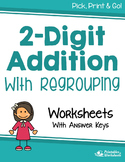 Adding 2 Digit Addition With Regrouping Worksheets