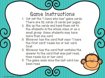 I Have Who Has Double Digit Addition Game 2.NBT.5