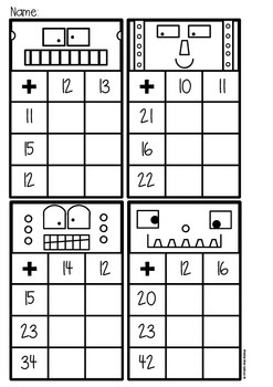 Double Digit Addition Activity Cards