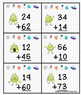 Double Digit Addition Alien War Card Game