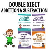 Double Digit Addition And Subtraction No Regrouping, With Regrouping Worksheets