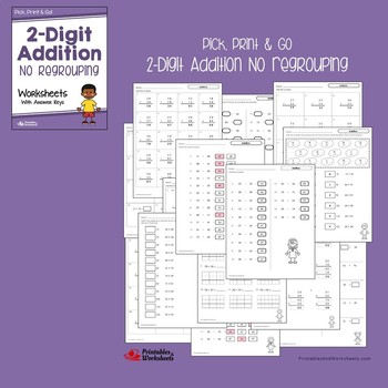 Double Digit Addition And Subtraction Without Regrouping Worksheets