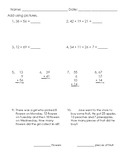 Double Digit Addition Assessment 3