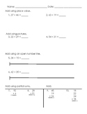 Double Digit Addition Assessment